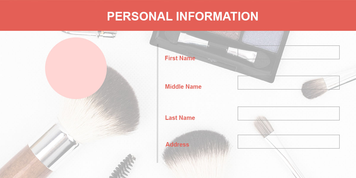 sample form for personal information