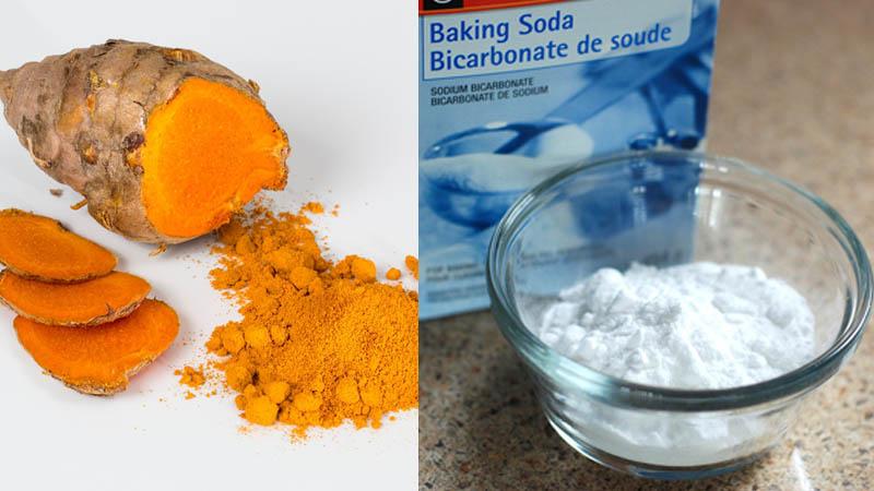 baking soda and turmeric
