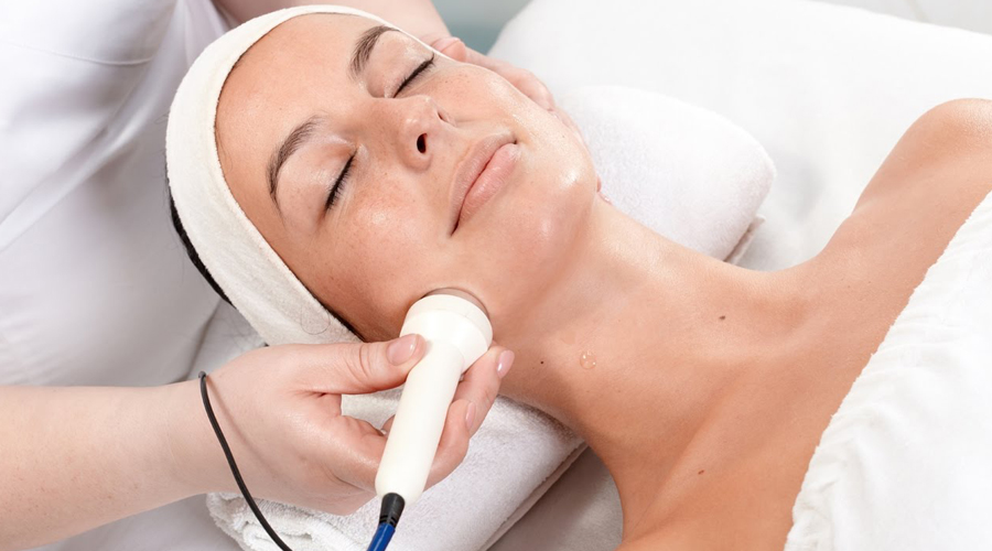 woman having a facial session